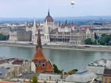 Across the Danube, the Parliament building