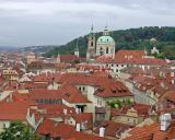 The red tile roofs of Prague