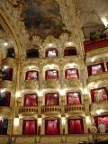 Boxes in the ornate Prague opera house