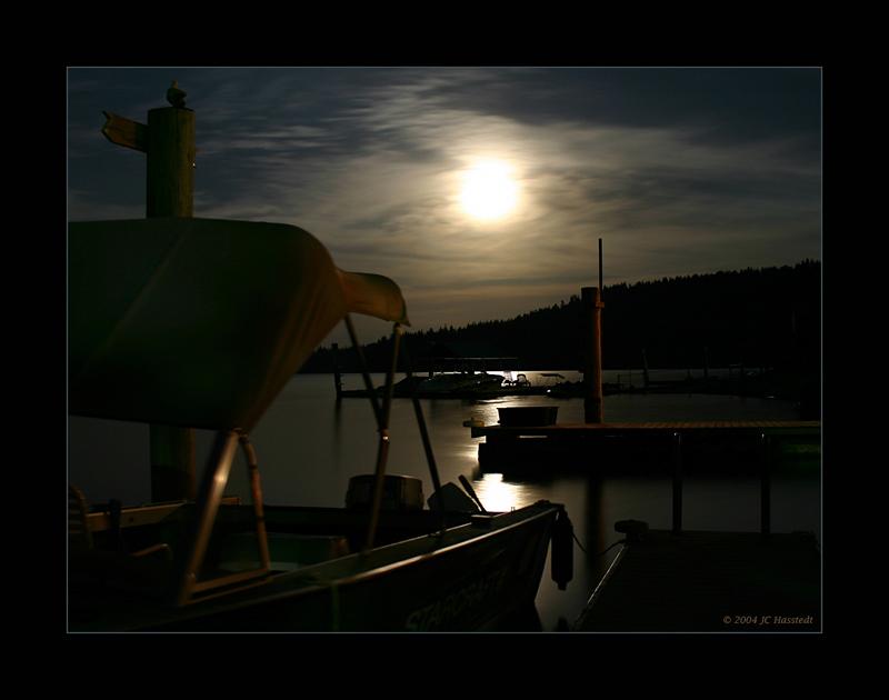 Docks Under Full Moon