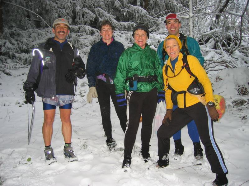 Trail Marking Party on Bootleg<br>Jamshid, Karen, Lynn, Ray & Cheri</br>