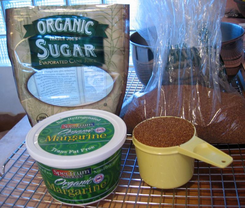 Raw sugar, Sucanat & non-hydrogenated margarine