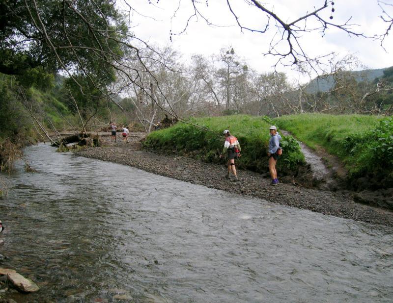 Lee & Wini across the creek