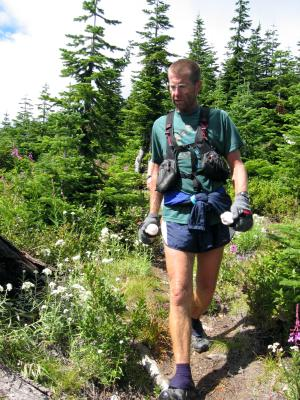 Steve on the way to French Cabin