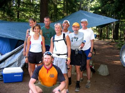 Group shot at the campground