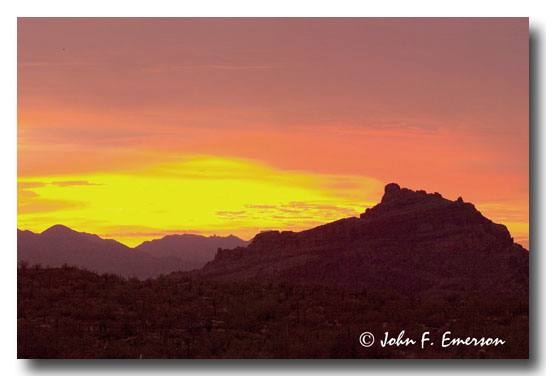 Red Mountain at Sunset