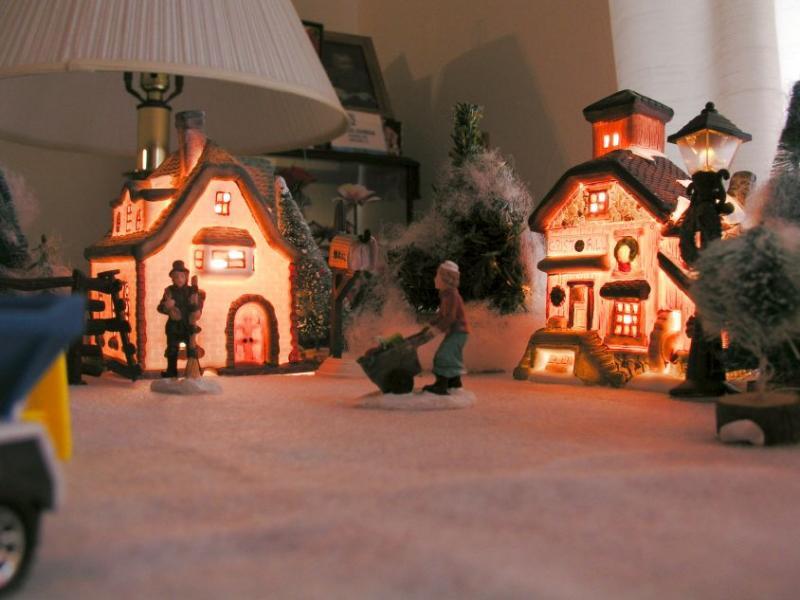 Grandmas Christmas Village