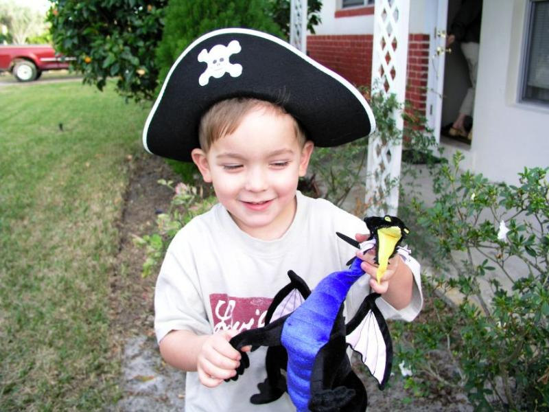I am the mighty pirate, come to slay the dragon....um, arent these stories mixed up?