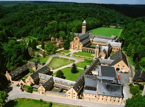 Orval - seen from air (picture from the Orval abey site)