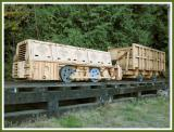 Underground mining locomotive.