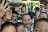 Chinese Schoolchildren on an outing 2