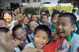 Chinese Schoolchildren on an outing 3