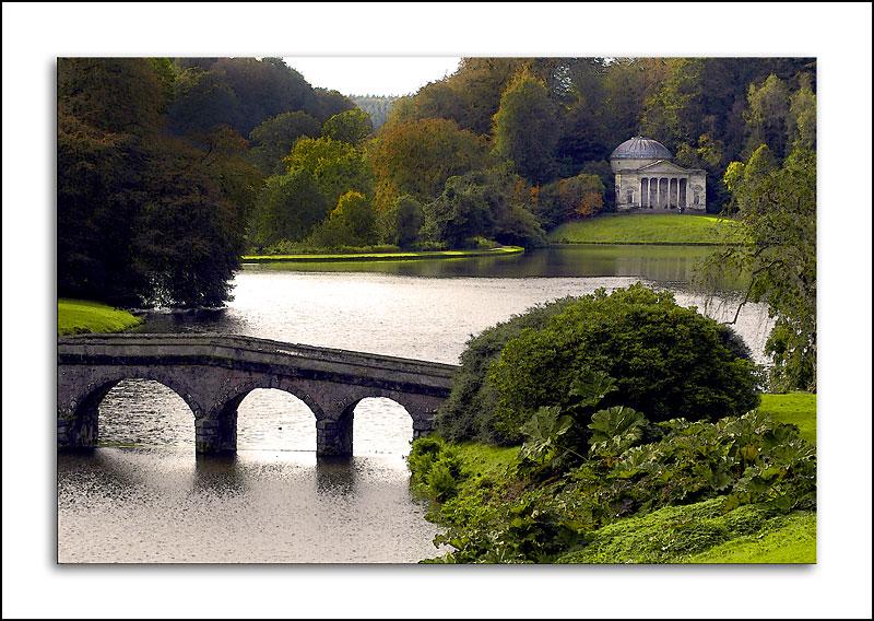 Stourhead ~ turf bridge and temple (1741)
