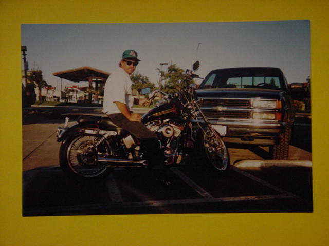 Breck Brubaker <br>and his Harley chopper
