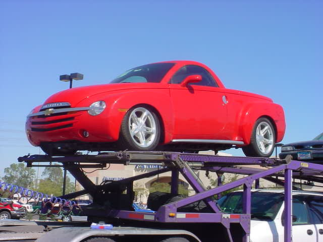 new red car truck