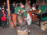 Blacksmith at Vorosmarty christmas fair