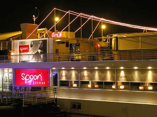 Danube river boat bar/restaurant