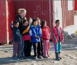 Inuit Kids and Danish Teacher