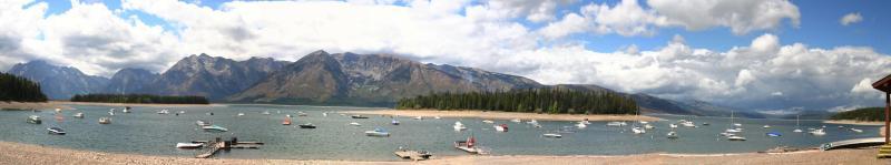 Leeks Marina on Jackson Lake