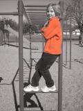 casie at the playground