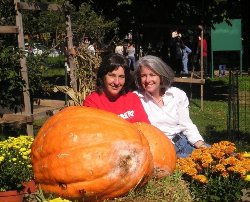 Pumpkin worshippers at the Queens County Fair