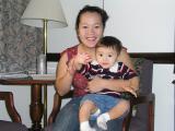 Mayumi and Kyle at Hotel