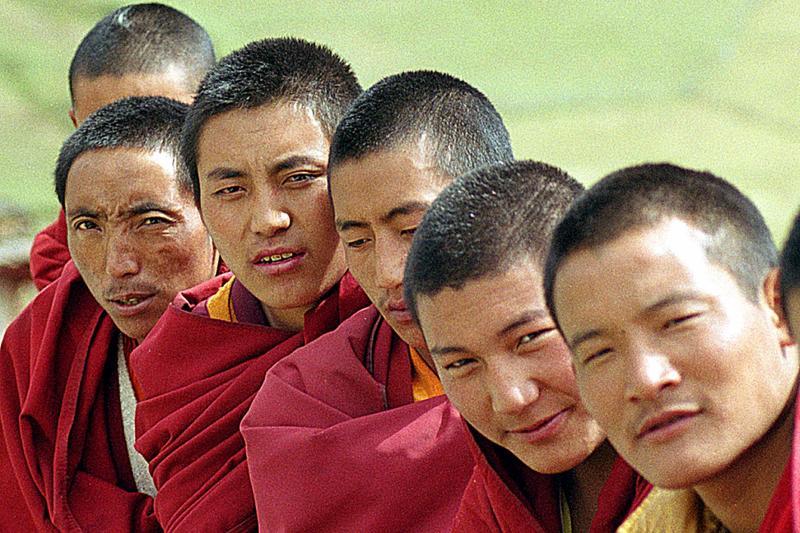 monks diagonally