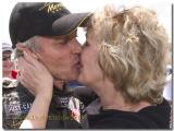 WINNING KISSES....Bev and Peter Brock