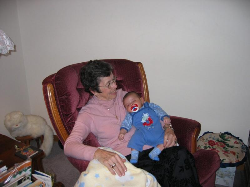 Winona (Nonie) & gr.grandson Broc