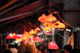 Red lights in fish market