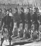Close up of Marching illustration