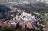 Sintra - looking down on the town and Palacio Nacional
