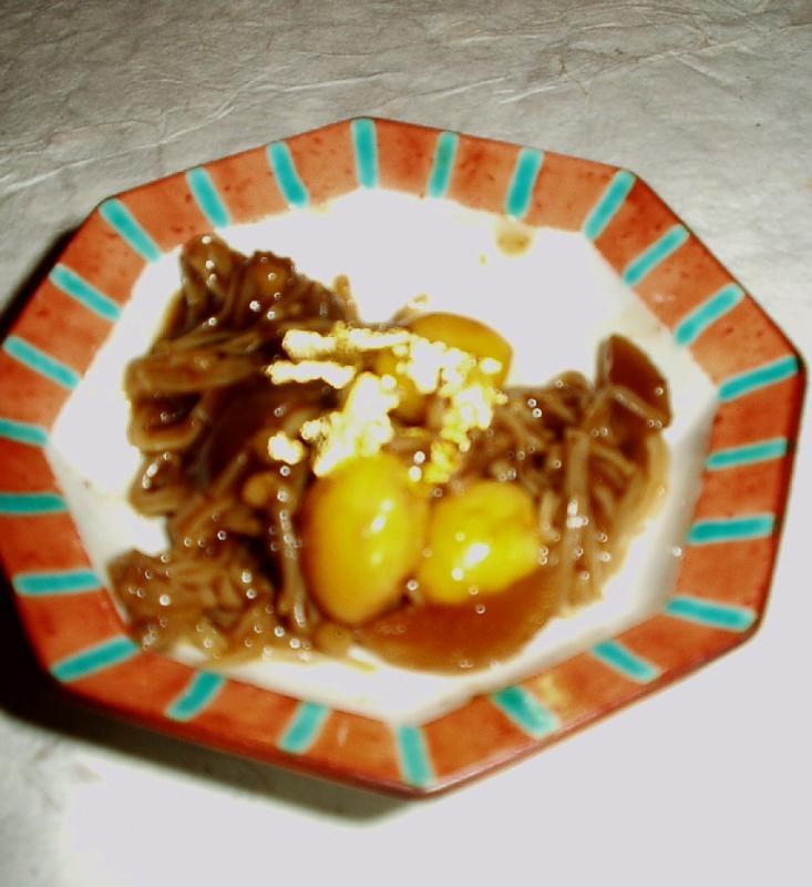 REAL gold flakes, mushrooms & ginko