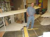 Dan Benoit built this Wright Brothers model from photographs!