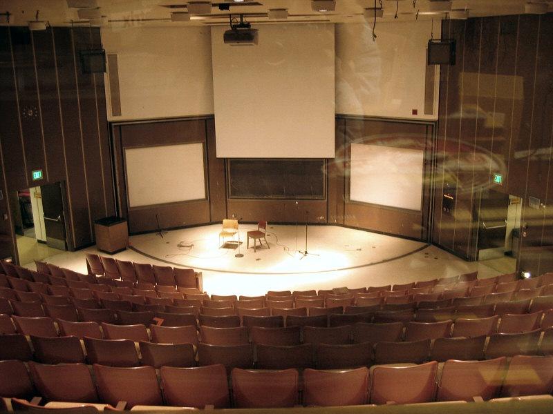 Auditorium from the control room