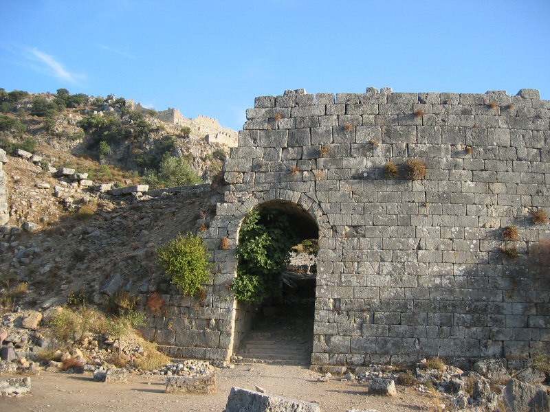 Entrance to the theater, built 150 BC - 200 AD