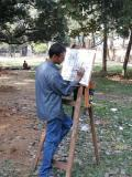 Artist scetching at the Institute of Arts and Crafts, Dhaka