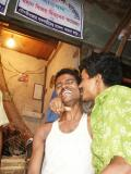 Being friendly at the Chicken Market, Dhaka
