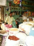 Shop at produce market, Dhaka