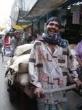 A happy cart puller, Dhaka