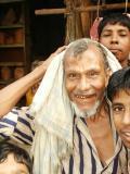 Old man with towel, Bangladesh