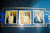 Sheikh Rashid, the father of modern Dubai, Sheikh Zayed, the President of the UAE, Sheikh Maktoum, the current Ruler of Dubai