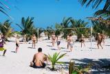 Russian tourists at Jumeirah Beach