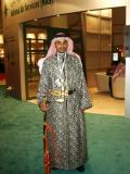 Fancy Arab costume at National Air Services