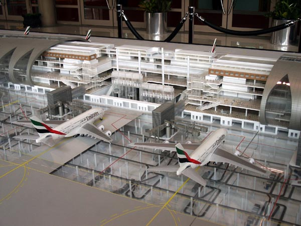 Emirates new A380 Terminal at Dubai will be able to handle 25 A380s simultaneously
