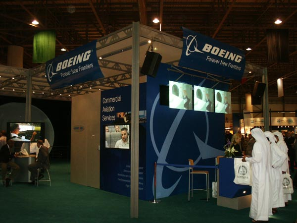 The Boeing booth at Dubai 2003