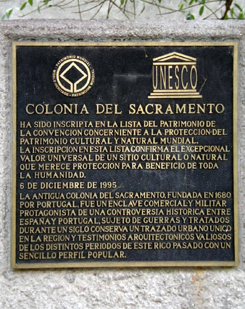 Colonia is a UNESCO World Heritage Site