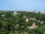 The view north from the top of Mingun Paya.