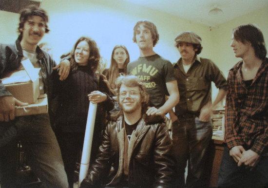 George Flores, Elaine OToole, Nancy (volunteer), Gary von Rosendahl, Bruce Longstreet, Frank OToole (kneeling)