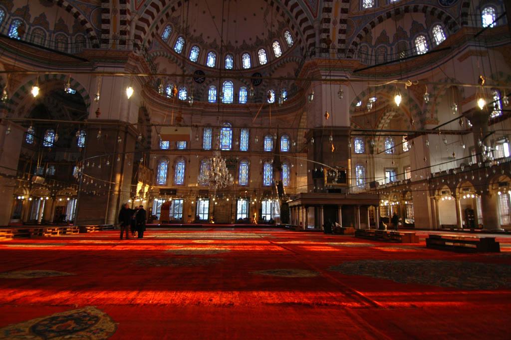 Fatih Mosque interior